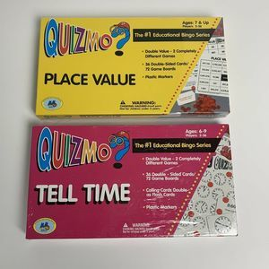 Lot of 2 Quizmo Games Bingo Educational Time